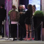 TOWIE star Pete Wicks chats to a mystery brunette as he queues to visit STRIP CLUB💥👩💥💥👩💥