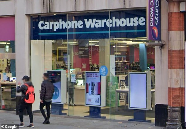Daniel Foster was the only black worker at Carphone Warehouse in Kensington high street (pictured) and was told not to speak to 'affluent clientele' as though they were from Brixton