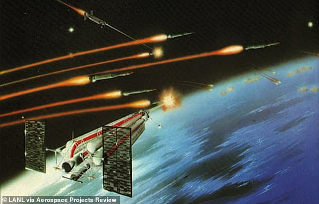 The report suggests the force field would be created by trucks or satellites (concept image) equip with lasers or other systems, which would form a dome-like, invisible barrier over the entire nation