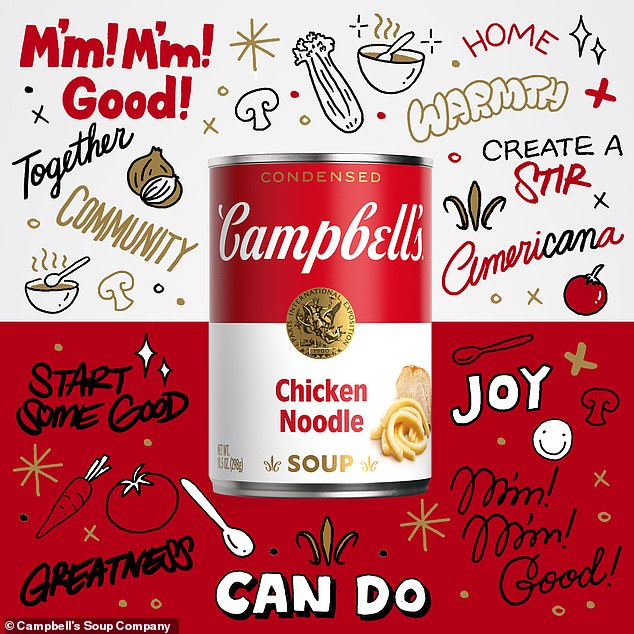 Campbell's also commissioned an NFT artwork by commercial artist Sophia Chang to celebrate the redesign. 100 copies of her art (pictured above) were scheduled to go on sale Tuesday at 5.30pm while a unique animated version will be up for auction until Aug. 6 at 9pm