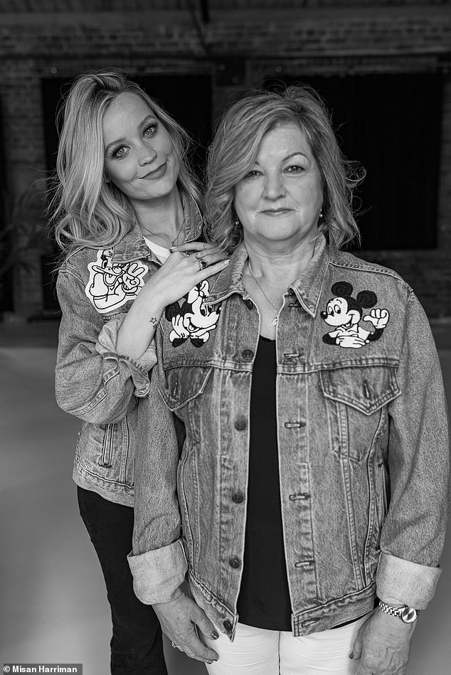 Family: Love Island host Laura Whitmore posed alongside her mom Carmel as they both wore Disney denim jackets