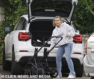 Boot: Dani took her son's stroller out of the boot