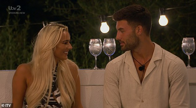 Moving on: Wednesday night's episode of ITV2 will only break hearts as the hunk's head seems to keep turning to bombshell Lillie Haynes, following an ever-growing flirtation between the two