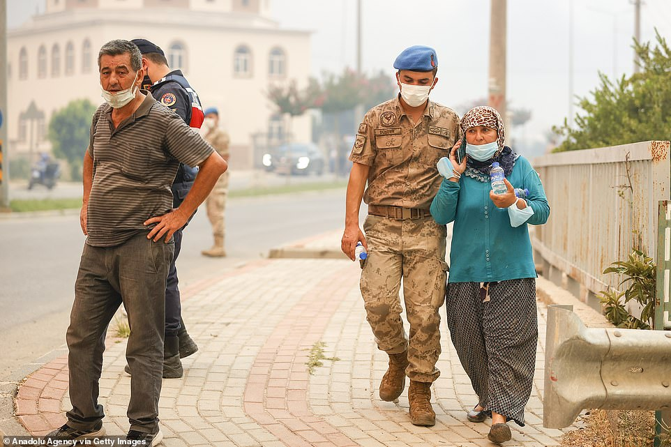 The government's Disaster and Emergency Management Presidency (AFAD) said around 30 people were 'affected' by the fire in the Mediterranean coastal town, but did not provide details