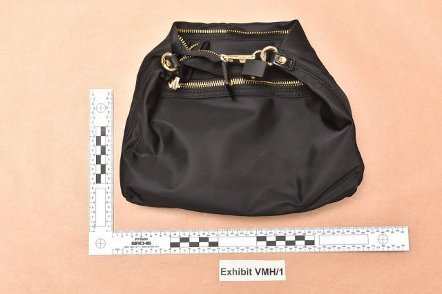 The replica padlocked bag used by the gang - who were able to spirit the real jewels away before being tracked down