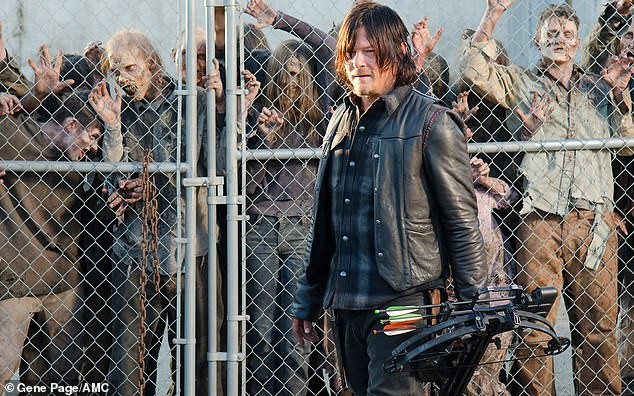 Meanwhile: Norman rose to fame in the zombie show The Walking Dead which released a trailer for its 11th and final season this weekend