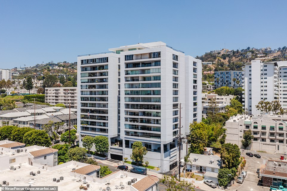 The Right Place: The building was built in 1964 and is nestled in the heart of the trendy West Hollywood enclave in Los Angeles, off the Sunset Strip.