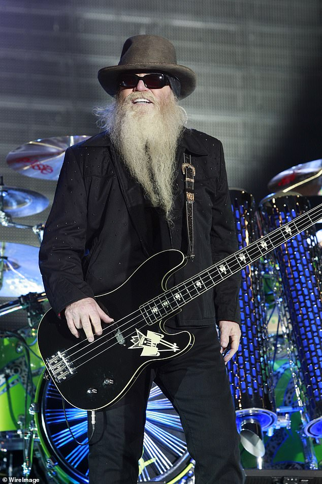 Sad loss: One of the founding members of legendary 1970s rock band ZZ Top died this week.  Dusty Hill, the band's bassist and singer, died in his sleep while at home in Houston, Texas.  Seen in 2010