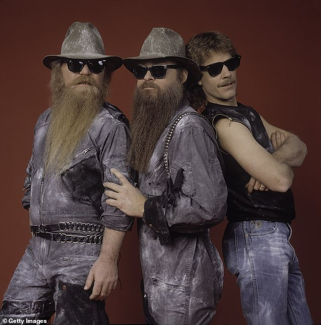 The Trio: The news was shared by his bandmates Billy Gibbons and Frank Beard on Wednesday.  Seen in 1984;  left to right, Hill, Gibbons and Beard