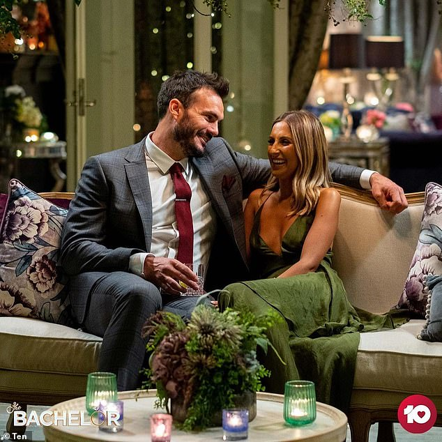 Love story: The couple met on Channel 10 The Bachelor dating show last season