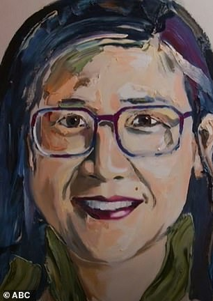 What is going on?  The finished painting showed Kylie wearing square-rimmed glasses
