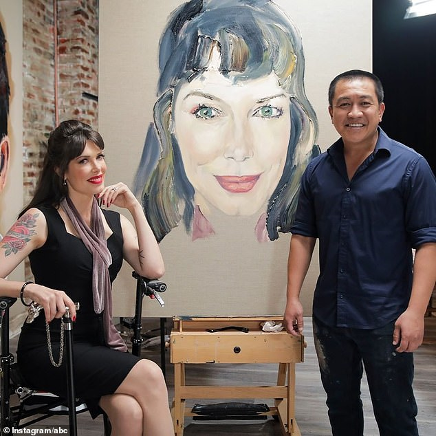 Helping Hand: Ryan confirmed to the Sydney Morning Herald this month that Ryan is helping him with the early stages of creating the portraits.  Do is pictured with model and author Tara Moss