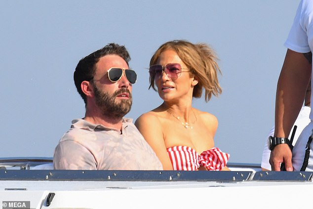 Blissful: Lopez and Affleck celebrated their 52nd birthday