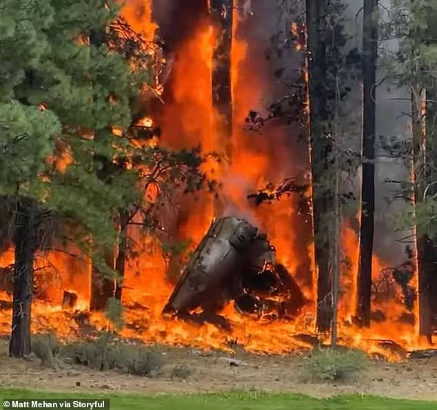 A private jet crashed and exploded into a fireball near a golf course in Truckee, California, on Monday killing all six people on board