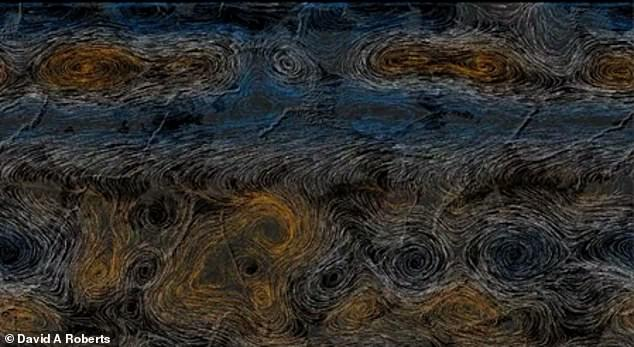 Robert also captured atmospheric climate patterns circling Earth that change the planet's terrain and seasons