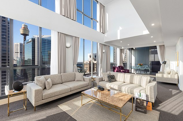 Luxury living! Caitlyn, 71, had been staying at the Meriton Suites Pitt Street hotel, in the same penthouse suite as Rita Ora, costing Channel Seven a whopping $500per night