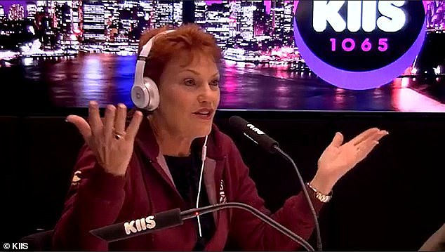 Chaotic: A car-crash interview with Pauline Hanson (pictured) on Thursday's Kyle and Jackie O Show saw tensions erupt between host Sandilands and his own senior producers