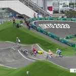 Chilling scenes as Aussie BMX favourite Saya Sakakibara is stretchered off track at Tokyo 💥👩💥