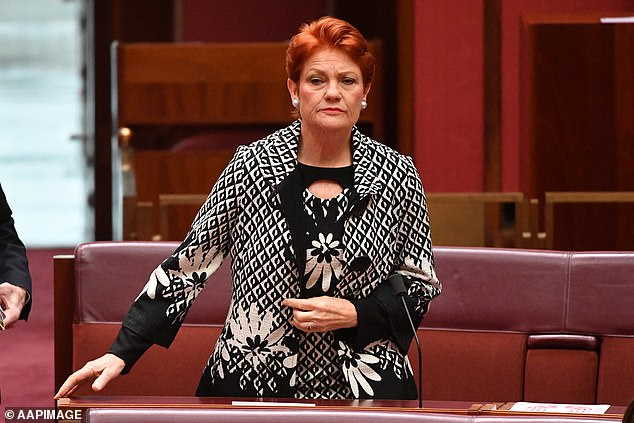 Lies: Several statements Hanson, 67, made about Covid-19 and vaccines were bleeped out because they were false and risked causing harm to the community. Pictured onJune 17