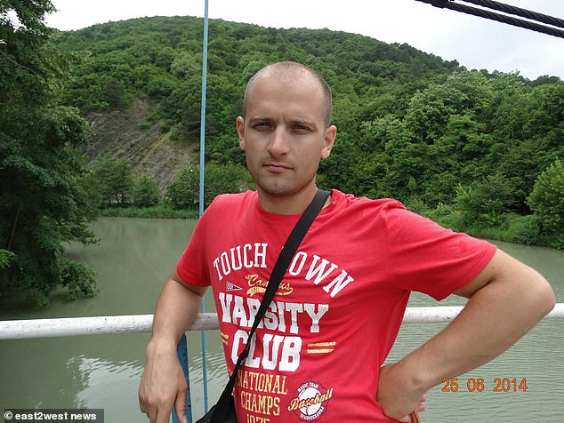 Five men and two women suffered horrific 'chemical burns'.One victim suffered 80 per cent chemical burns, the rest 100 per cent (pictured: Alexander Krasnikov)