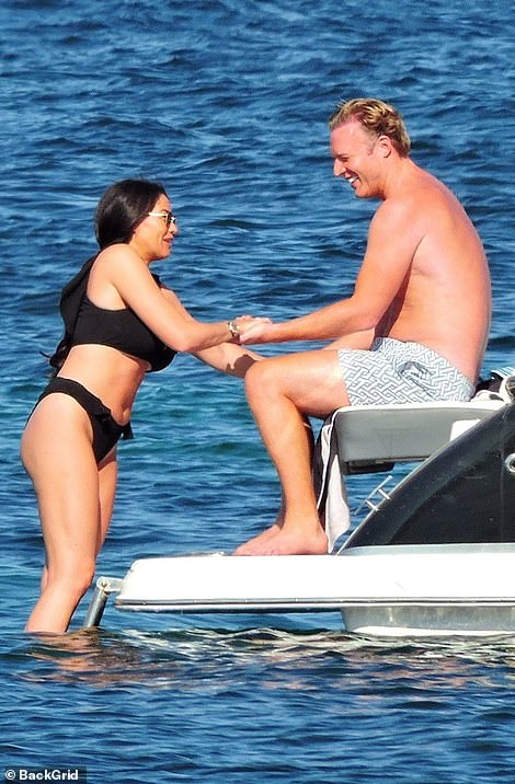 Fun in the sun: William and Jess displayed their incredible chemistry