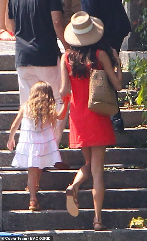 Matchy matchy: The mom and daughter coordinated their footwear