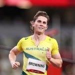 Australian sprint sensation Rohan Browning WINS his 100m heat Tokyo Olympics 💥👩💥