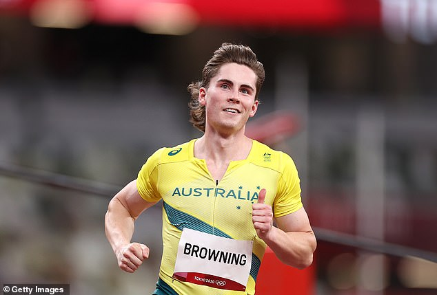 Sprint star Rohan Browning has won his opening-round 100m heat at the Tokyo Olympics in spectacular style and moved to second spot on the Australian all-time list