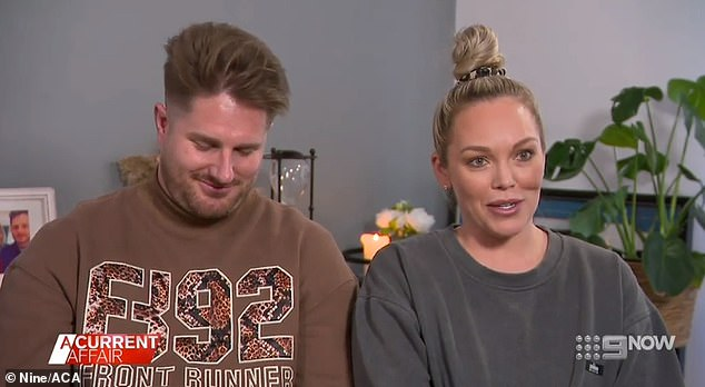 Big news: Controversial MAFS couple Bryce, 32, and Melissa, 32, have revealed they've picked names for their twins and are looking at potential wedding dates. Both pictured