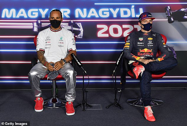 Lewis Hamilton and Max Verstappen sat tensely after Hungarian Grand Prix qualifying