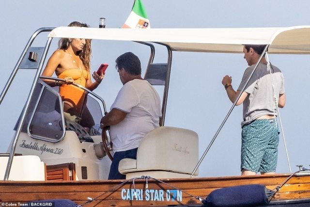 The Tequila firm boss cut a casual figure as he chartered the yacht without his wife, Princess Eugenie