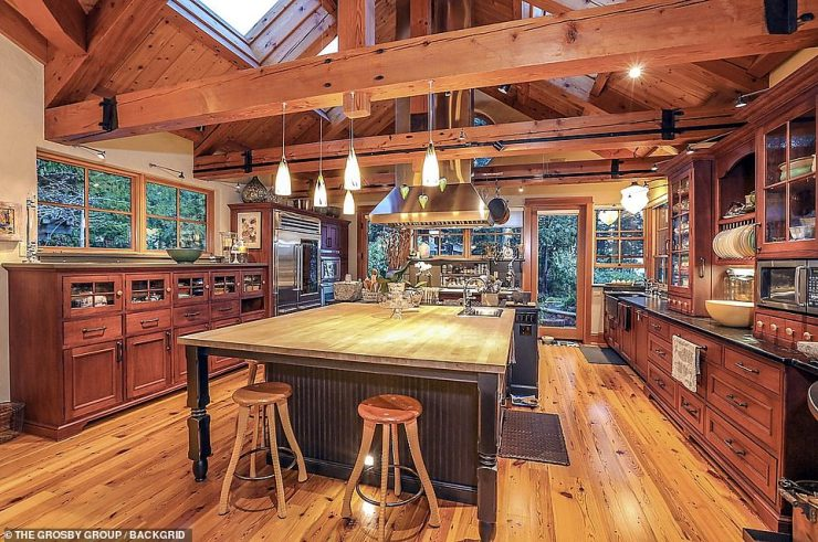 Outside in: The bottom floor includes a lavish kitchen with spacious workshops that offers gorgeous window views of the island