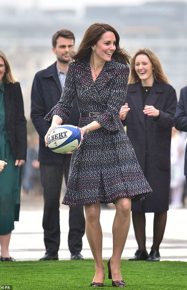 The duchess is a firm rugby supporter and it is thought she will champion the RFU's 'inner warrior' campaign, which aims to help recruit more female players into clubs.