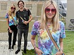 Fearne Cotton puts on a chic display in festival attire as she supports her husband at Bestival