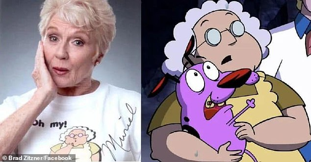 Sad loss:Thea Ruth White, best known as the voice of Muriel Bagge in the Courage The Cowardly Dog, has passed away at the age of 81