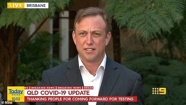 Queensland Deputy Premier Steven Miles provides the state's Covid update on Monday morning
