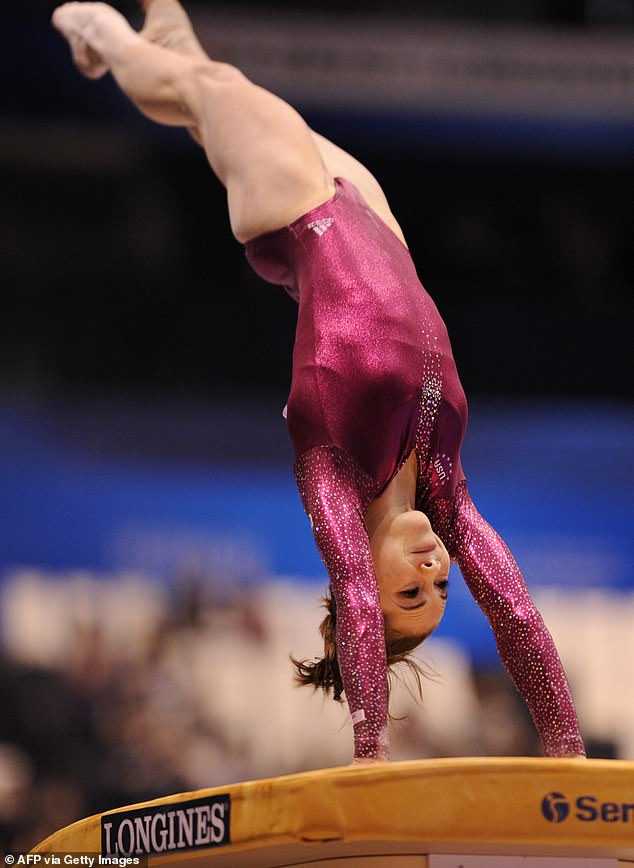 McKayla Maroney of the US performs during the women's vault final at the World Gymnastics Championships in Tokyo on October 15, 2011