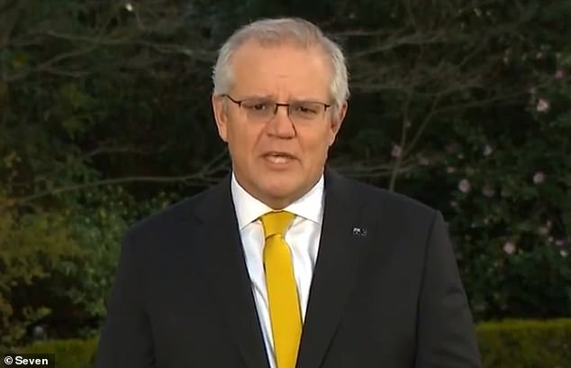 Increase:'What we're seeing in New South Wales now is AstraZeneca dosage rates amongst 16 to 39 year olds just rapidly escalate,' Prime Minister Scott Morrison said on Monday