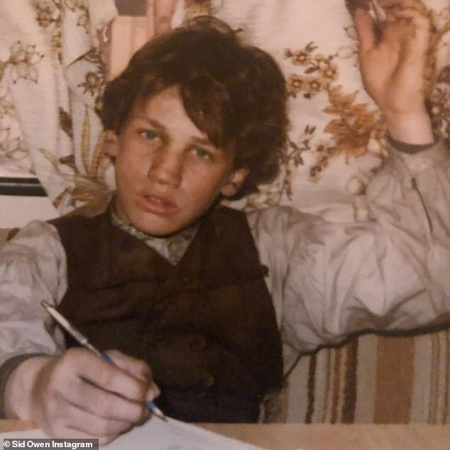 Tell-all: Sid has written the autobiographical account called From Rags to Ricky, which recalls a poverty stricken life growing up, with an absent father and terminally ill mother; a young Sid is pictured