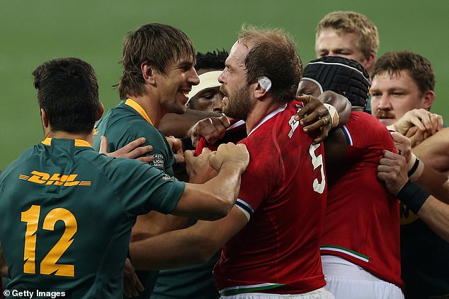 Tempers flared in the match with both sides struggling to keep their discipline throughout