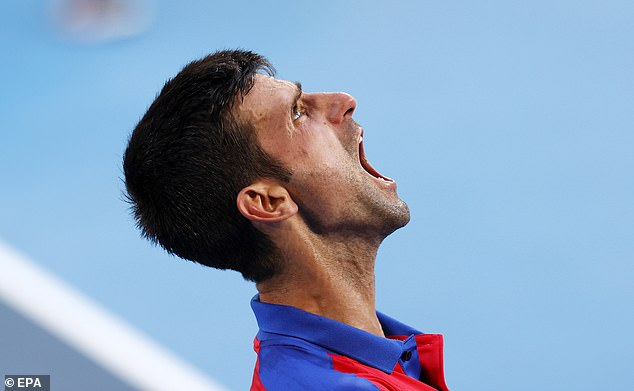 Djokovic has a habit of losing his temper in matches and Nadal said: 'It's not the best image'