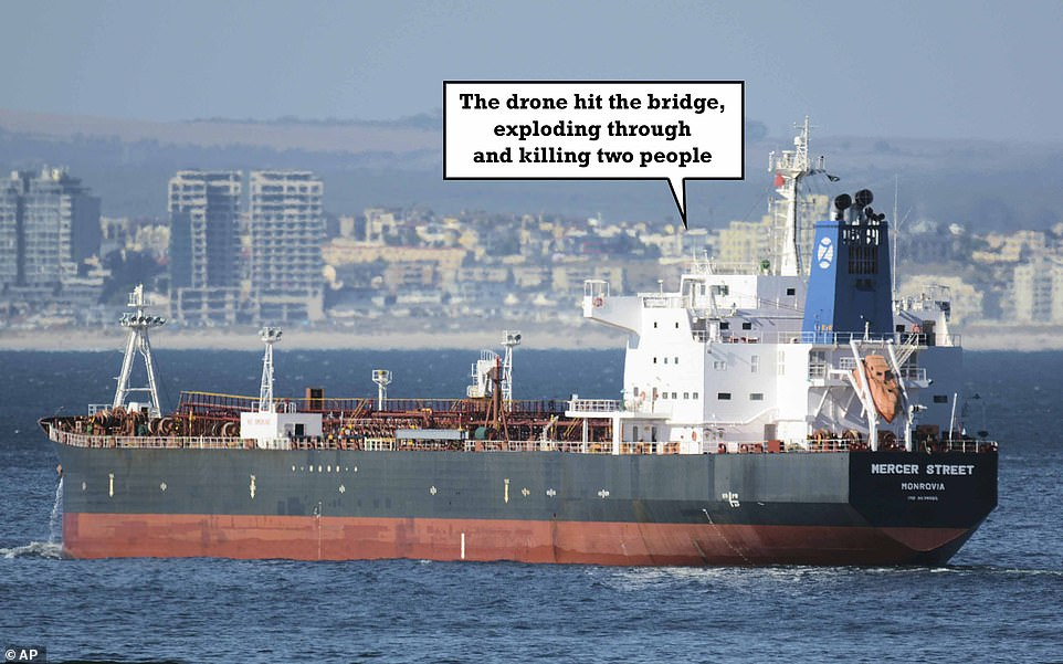 This January 2, 2016 photo shows the Liberian-flagged oil tanker Mercer Street off Cape Town, South Africa
