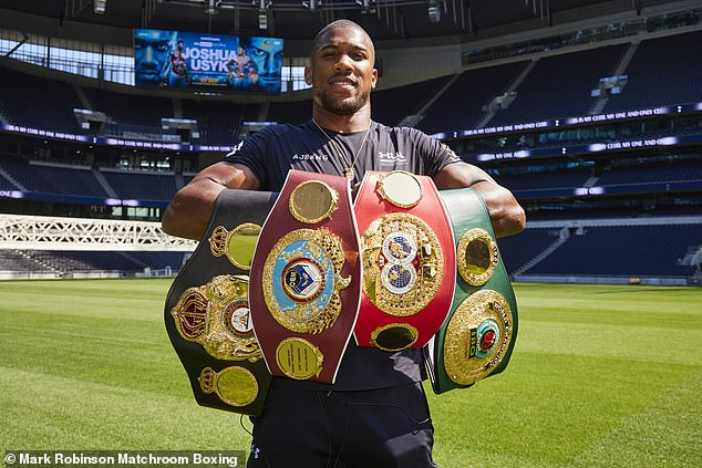 Anthony Joshua's four titles are on the line when he faces Oleksandr Usyk in September
