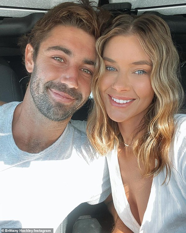 Heating up: Brittany Hockley revealed her fledgling relationship with boyfriend Jordan Thompson is getting serious