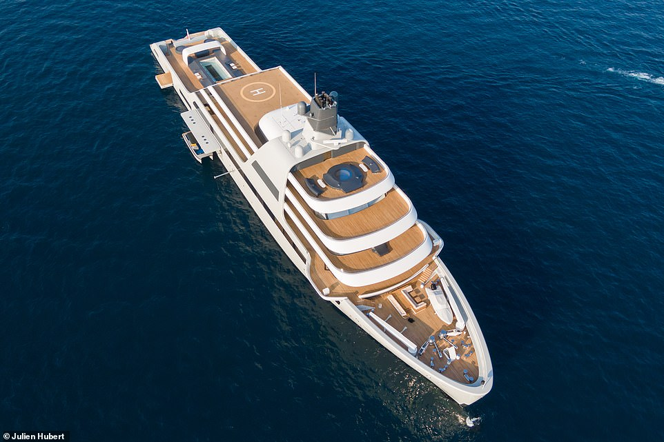 Solaris has a flotilla of 20 high-speed jet-skis and at least one helicopter to ferry guests from ship to shore. And it's expected that Abramovich will also invest in a personal submarine