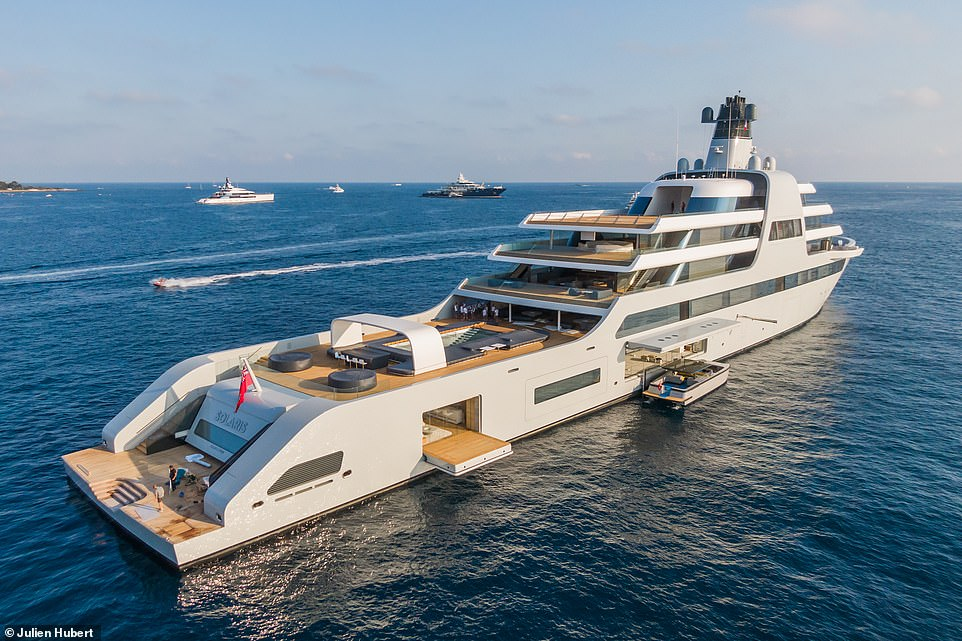 The 460ft vessel, Solaris, is the most costly custom-made superyacht ever built, with 48 cabins across eight decks, a crew of 60 and space for 36 guests