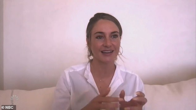 Hard start:Shailene Woodley went through a couple of years 'feeling insecure'