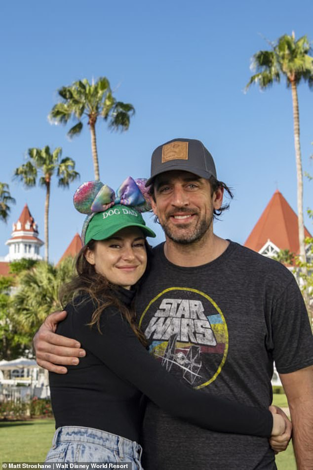 It's love:And she confirmed her engagement to football star Aaron Rodgers in February