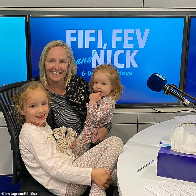 Baby joy: Radio presenter Fifi Box, 44, 'wants another baby and doesn't care if it's a boy or a girl', reports New Idea. Pictured with her daughters Trixie, eight, and Daisy-Belle, two