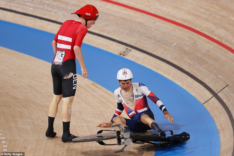 Madsen confronted Tanfield before the Dane was heard screaming 'f*** them' at the British team shortly after the crash